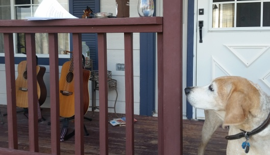 guitars and the porch